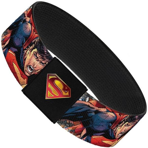 Superman Unchained Explosion Action Pose Wraith Shield Golds Reds Elastic Elastic Bracelet