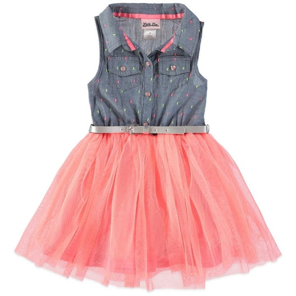 745fe216ba Little Lass Girls 4-6x Sleeveless Tulle Dress - Coral