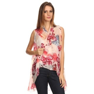 Womens Lightweight Open Front Sleeveless Poncho