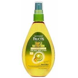 Garnier Fructis Haircare Triple Nutrition Miracle Dry Oil for Hair, Body, & Face 5.1 oz