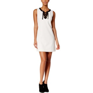 Kensie Womens Casual Dress Lace-Up Sleeveless