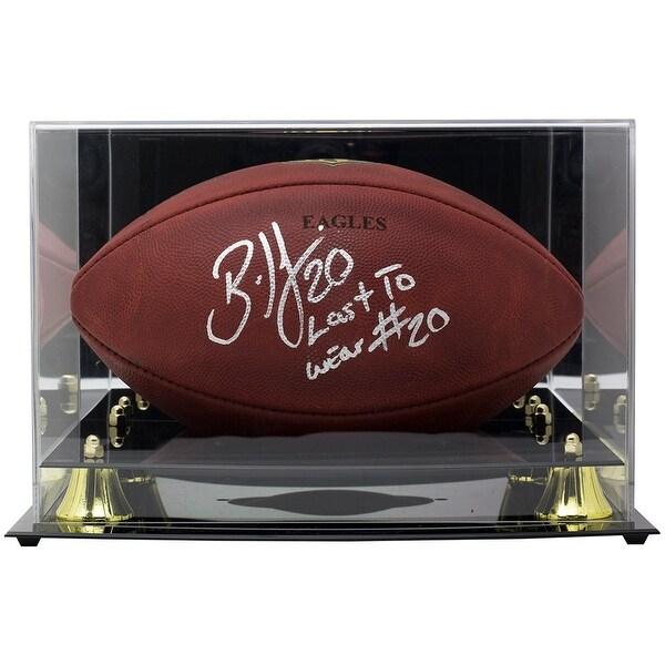 cc7393ba64d Brian Dawkins Signed Eagles Wilson Duke Football Last To Wear JSA w/Acrylic  Case