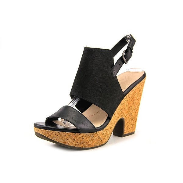 Naya Misty   Open-Toe Leather  Slingback Heel