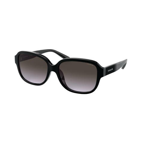 Coach HC8298U 50028G 57 Black Woman Rectangle Sunglasses