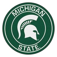 NCAA Michigan State University Spartans Rounded Non-Skid Mat Area Rug