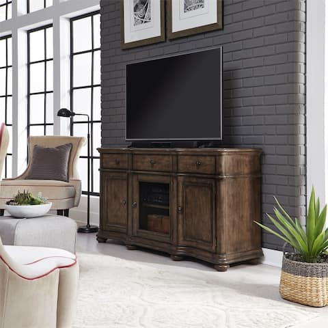 Parisian Marketplace Heathered Brownstone 64-inch TV Console - 64 inches in width