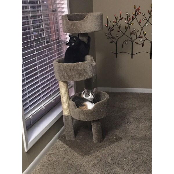 ae2b920f87 Shop New Cat Condos Deluxe Kitty Pad Cat Tree - Free Shipping Today -  Overstock - 9966296