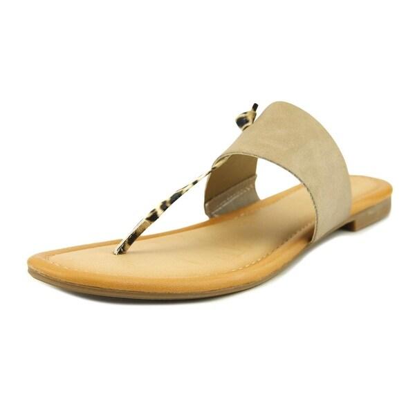 Rampage Paddy Women Open Toe Synthetic Tan Thong Sandal