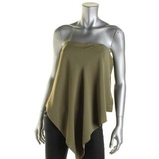 Rachel Rachel Roy Womens Asymmetrical Side Zip Strapless Top - 0