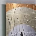 Statements2000 Copper 24-inch Metal Hanging Wall Clock - Nightfall Clock - Thumbnail 4