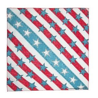 CTM® American Denim Stars and Stripes Bandana - Multi-Color - One Size