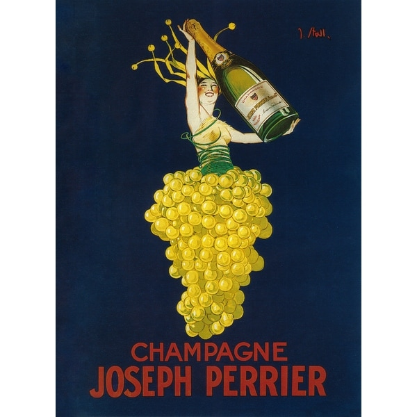 France - Joseph Perrier Champagne - Vintage Ad (Light Switchplate Cover)