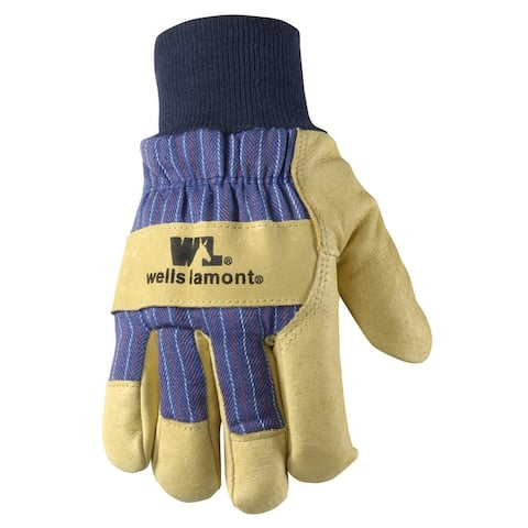Wells Lamont 5127L Men's Cold Weather Work Gloves, Large, Palomino Leather