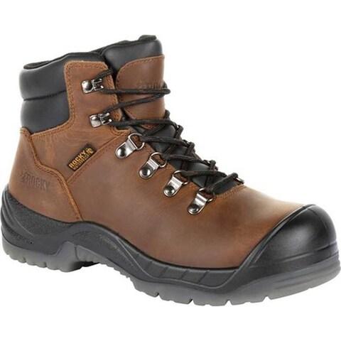 "Rocky Women's 5"" Worksmart Composite Toe Work Boot RKK0265 Brown Full Grain Leather"