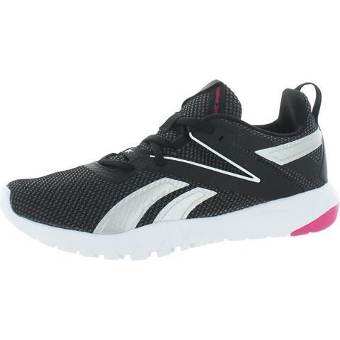Reebok Womens Mega Flexagon Sneakers Athletic Gym - Black/White/Proud Pink - 10 Medium (B,M)
