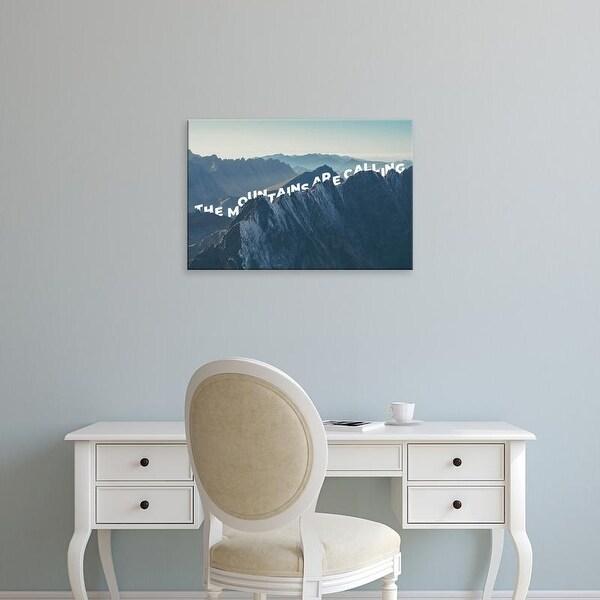 Easy Art Prints 'Mountains Are Calling' Premium Canvas Art