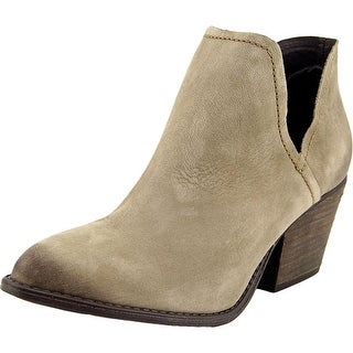 Steve Madden Adelphie Women Pointed Toe Leather Gray Bootie