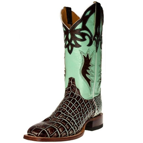 Cinch Western Boots Womens Cowboy Croco Square Brown Mint