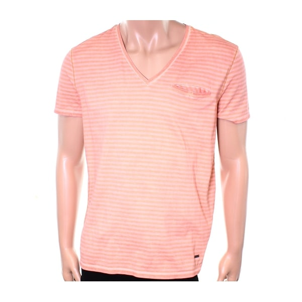 0b3c283f Shop Hugo Boss NEW Orange Mens Size Large L Stripe Pocket Tee V-Neck T-Shirt  - Free Shipping On Orders Over $45 - Overstock - 19423888