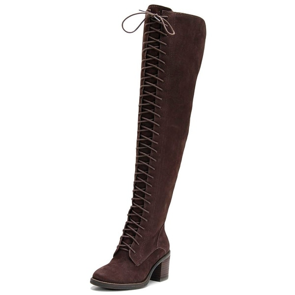 Lucky Brand Riddick Women Round Toe Leather Over the Knee Boot