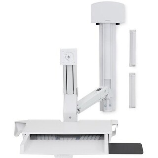 Ergotron - Ergotron Styleview Sit-Stand Combo System With Worksurface (White) With Small Cp