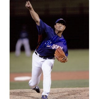 Signed Otsuka Akinori Texas Rangers 8x10 Photo autographed