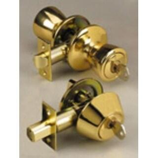 Apex LA2140 Entry Door Lock And Single Cylinder Deadbolt Combo