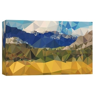 """PTM Images 9-102200  PTM Canvas Collection 8"""" x 10"""" - """"Faceted Valley"""" Giclee Mountains Art Print on Canvas"""