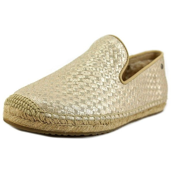 Ugg Australia Sandrinne Metallic Basket Women Round Toe Leather Espadrille