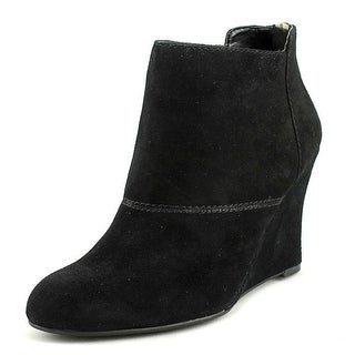 Nine West Optimistic Round Toe Suede Ankle Boot