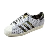 Adidas Men's Superstar 80s Vintage White/Camo Gold Quickstrike Q16292