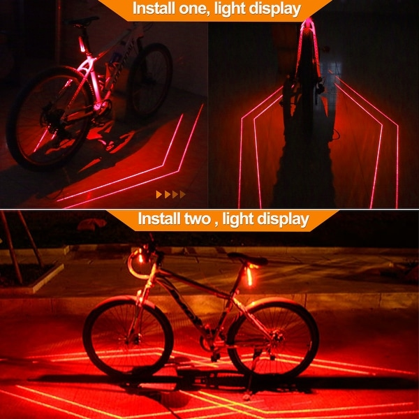 Bike Bicycle Cycling USB Rechargeable Warning Light Front Rear LED Tail Lamp SPD