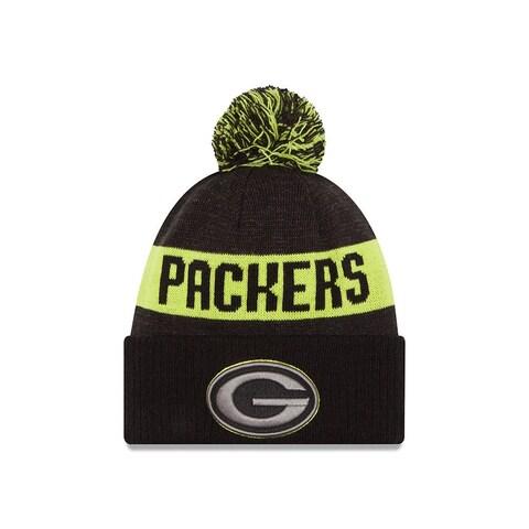 New Era 2016 Green Bay Packers Blk/Gph/Cyg Sport Knit Hat
