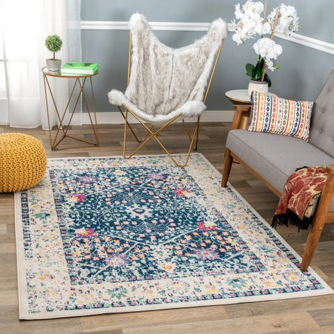 Bohemian Floral Traditional Area Rug
