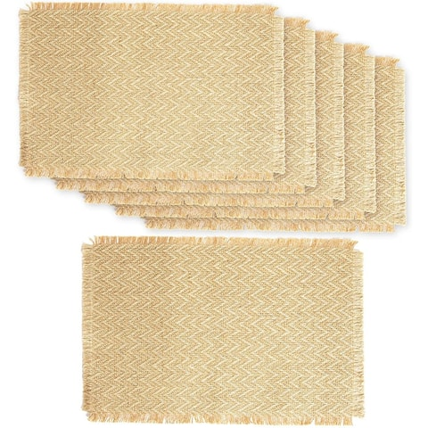 Farmlyn Creek Natural Jute Placemats for Dining Table (17.75 x 12 Inches, 4 Pack)