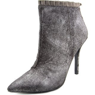 Betsey Johnson Flouncep Women Pointed Toe Suede Bootie