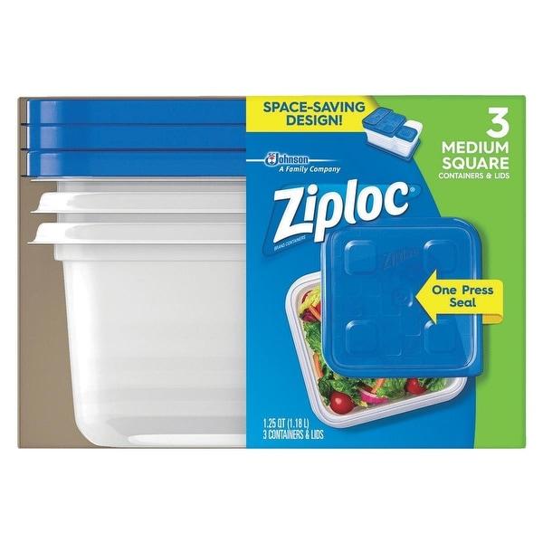 Ziploc 3 Pack Freezer Container