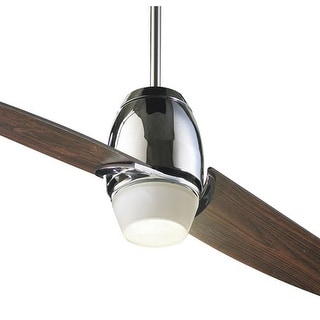 """Quorum International 21542 2 Blade 54"""" Indoor Ceiling Fan from the Muse Collection - Chrome"""