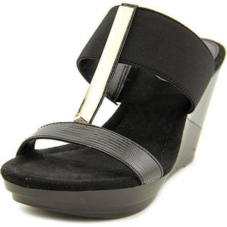 Alfani Bainer Open Toe Canvas Wedge Sandal