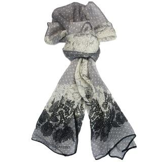 Valentino VS7020 6796 Col.2 Grey Floral Silk Ladies Scarves