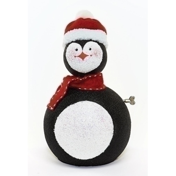 "14"" Happy Holidays Animated and Musical Penguin Christmas Figure"