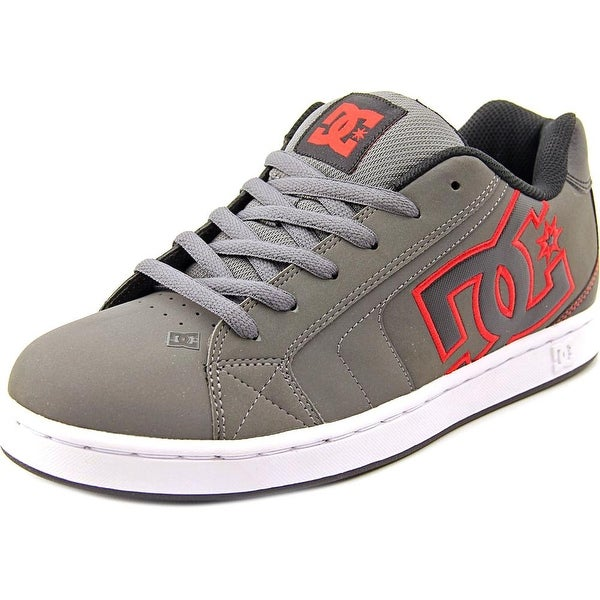 DC Shoes Net Grey/Red Skateboarding Shoes