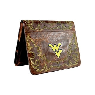 Gameday iPad Case West Virginia Distressed Leather Brass WV-IP023-1