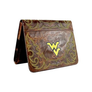 Gameday iPad Case West Virginia Distressed Leather Brass