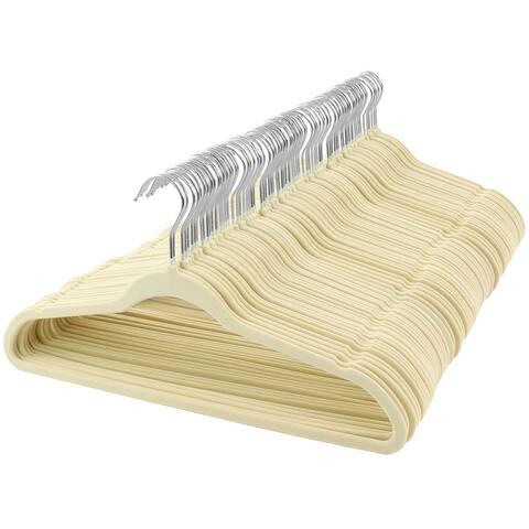 Elama Home 100 Piece Velvet Hanger Set