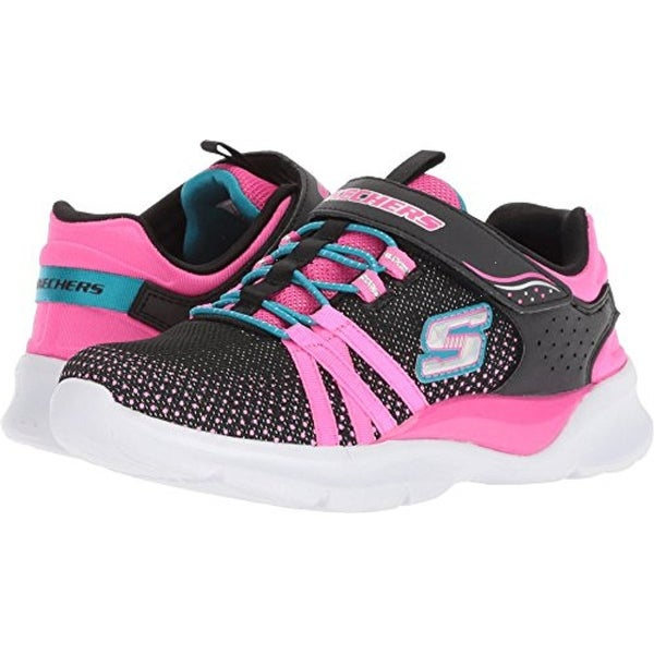 795284e38bb2 Shop Skechers Kids Girl's Tech Groove (Little Kid/Big Kid) Black/Hot Pink 4  M Us Big Kid - Free Shipping Today - Overstock - 25739194