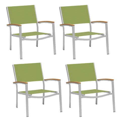 Travira Chat Chair with Tekwood Natural Armcaps (Set of 4)