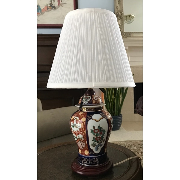Crown lighting 9 inch high bright white pleated empire lamp shade w liner free shipping today overstock 17512816