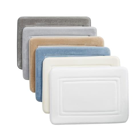 Truly Calm Antimicrobial 2 Pack Memory Foam Bath Rug