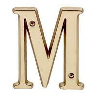 Letter M House Letters Solid Bright Brass 4 | Renovator's Supply